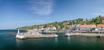 Small port of Vang on Bornholm Stock Images
