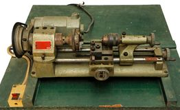Small portable lathe isolated Stock Photos