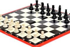 Small portable travel chess game Royalty Free Stock Images