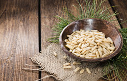Small portion of Pine Nuts Royalty Free Stock Images