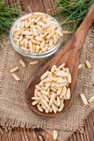 Small portion of Pine Nuts Royalty Free Stock Photography