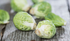 Small portion of raw Brussel Sprouts. Portion of raw Brussel Sprouts Royalty Free Stock Photos