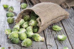 Small portion of raw Brussel Sprouts. Portion of raw Brussel Sprouts Royalty Free Stock Image