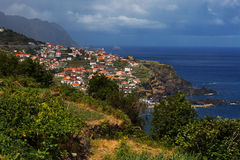 Small Portuguese town on the side Royalty Free Stock Photo