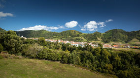 Small Portuguese Village In The Mountains - Azores Sao Miguel Po Stock Photography
