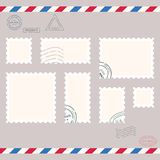 Small post stamps Stock Image