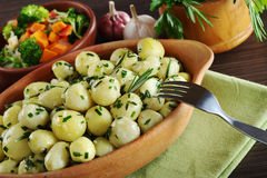 Small Potatoes with Herbs Royalty Free Stock Photos