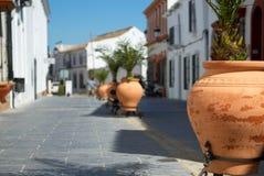 Small pottery street stock photo