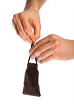 Small pouch Stock Image