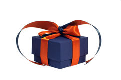 Small present box isolated stock image