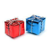 Small present boxes Royalty Free Stock Photos
