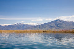 Small Prespa Lake, Greece royalty free stock image