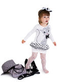 Small pretty girl of fasion. Royalty Free Stock Image