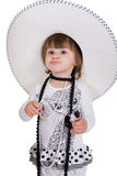 Small pretty girl of fasion. Royalty Free Stock Photography