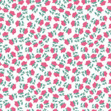 Small pretty roses seamless pattern Royalty Free Stock Images