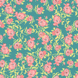 Small pretty roses seamless pattern Stock Photography