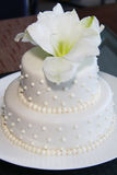 Small Pretty Wedding Cake- Modern Royalty Free Stock Photos