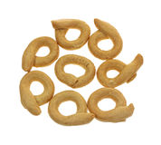 Small Pretzel Loops Overhead View Royalty Free Stock Photography