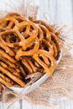 Small Pretzels in a bowl Stock Photo