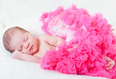 small princess in pink laces Stock Images