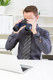 Small print at office - businessman Stock Image