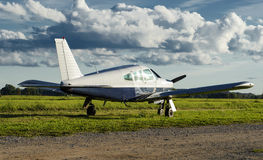 Small private airplane. Image of small private airplane Royalty Free Stock Photography