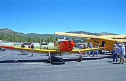 Small Private Airplane Stock Photo