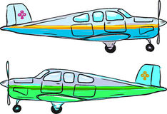 Small private airplane vector sketch illustration clip-art Stock Photography