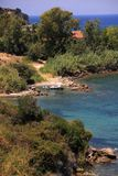 Private beach on the island of zakynthos royalty free stock photography