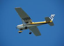 Small private plane for charter. Cessna type plane with charter flights royalty free stock photography