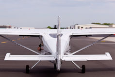 Small private plane from rear Stock Photo