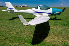 Small private plane, sport propeller aircraft. Royalty Free Stock Images