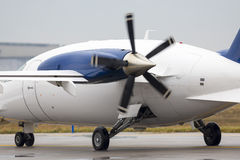 Small private propeller plane Stock Photography