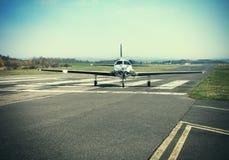Small private single-engine piston aircraft Royalty Free Stock Photos
