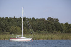 Small private yacht Stock Images