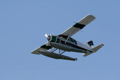 Small Prop Plane. Flying on a sunny day stock photos