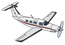 Small propeller airliner Stock Images