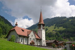 Small Protestant Church Stock Image