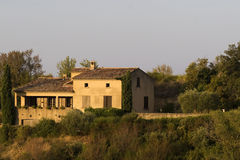 Small Provence villa in morning Royalty Free Stock Images