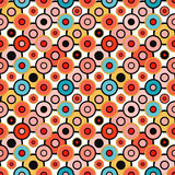 Small psychedelic circles seamless pattern Royalty Free Stock Image