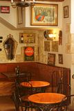 A Small Public Bar. An example of a small public house or bar in Malta, with some historic British Mementos Royalty Free Stock Photo