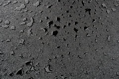 Small puddles on clean new asphalt Royalty Free Stock Photo
