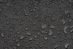 Small puddles on clean new asphalt Royalty Free Stock Images