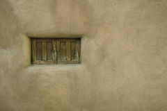Small pueblo style window Stock Image
