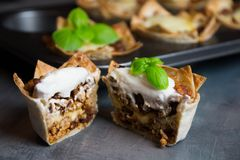 Puff pastry basket stock image