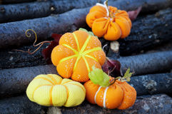 Small pumpkin handcrafted Stock Images