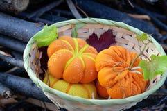 Small pumpkin handicraft Stock Photo