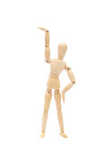 Small puppet  stretch joints Royalty Free Stock Image