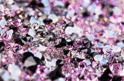 Small purple gem stones Stock Photo