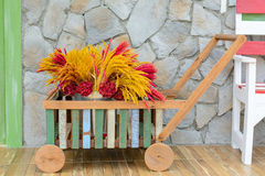 Small pushcart with flower Royalty Free Stock Image